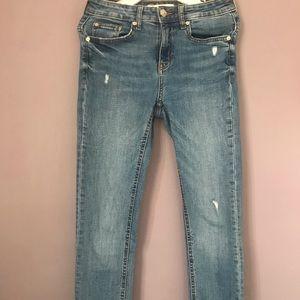 Zara mid rise skinny ripped Jeans